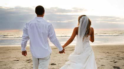 عروس داماد لب دریا